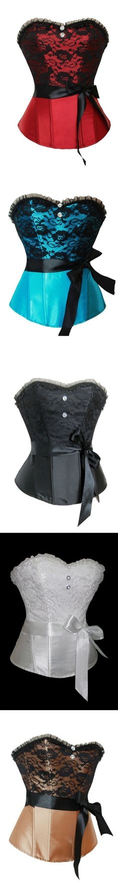 """Realistic Corset Naughty Slim Corset Undergarment Masquerade Half Cup """"Azure Corsets, Corset Costume Outfit"""" Buckle Ladies Naughty Embroidered Half Cup Waist Trimmer Mesh Laces Strapless Cosplay Cleavage Silk Tall Undergarment Rave Corset Coquette Tummy Bridal Casual."""