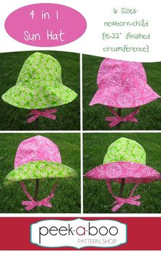4 in 1 Sun Hat PDF Sewing Pattern