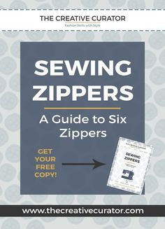 Sewing beginners - CLICK to learn how to sew Zippers - The Creative…