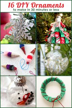 16 DIY Christmas Ornaments To Make In 30 Minutes Or Less #Christmas #blogherholidays