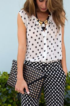 Playful Polka Dots and #BarIII necklace via @thestylebungalow