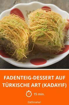 Fadenteig-Dessert auf türkische Art (Kadayif) - smarter - Zeit: 15 Min. | eatsmarter.de