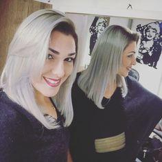 """Andressa Zanco hair on Instagram: """"Quando a gente se apaixona pelo Hair!  #longbob #platinum #loiroplatinado #byandressazanco #loiro #loiras #loirodivo #loiroluxo…"""""""