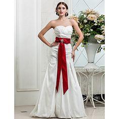 Trumpet/Mermaid Sweetheart Floor-length Taffeta Grace Wedding Dress – USD $ 299.99