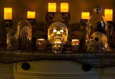 Halloween Display with Skulls
