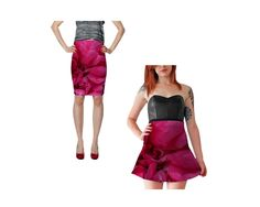 #Red #Skirt #Fitted #Pencil #Teen #Fashion by WhimZingers on Etsy $30