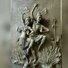 Grey TulirTaney Shiva Shakti Dance Clay Wall Sculpture for Interior Decor, Rs 500 /square feet Arte Shiva, Shiva Art, Krishna Art, Hindu Art, Shiva Shakti, Clay Wall Art, Mural Wall Art, Wall Sculptures, Sculpture Art