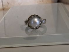 Handcrafted Pearl and Sterling Silver Ring-Great Limited Time Clearance Pricing on this Item. by Jewelriart on Etsy https://www.etsy.com/listing/255217691/handcrafted-pearl-and-sterling-silver