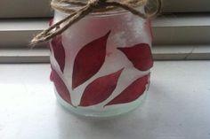 Lav lanterne med blade og glimmer Blade, Lantern, Creative