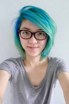 Accidental mermaid turquoise ombre - u/Still_Teleporting