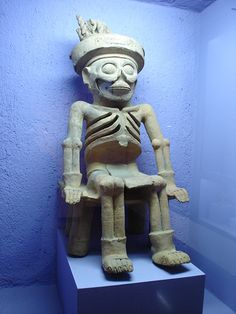 Mictlantecuhtli - Aztec God of Death, ruler of the lowest layer of the underworld. 15th - 16th Century
