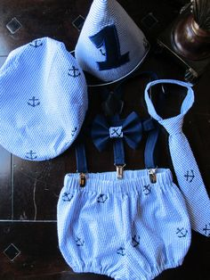 Nautical Boys Smash Cake Outfit Boys Birthday by TwoLCreations