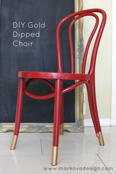 """Loving the trend of a """"Dipped"""" look on a Chair via hodge podge"""