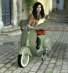 # ..my sexy vespa It'$ just only one part ! Yes ! It'$ customed