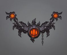 a bow of Iron Horde by Zagumennyy on DeviantArt Weapon Concept Art, Armor Concept, Game Concept Art, Game Ui Design, Prop Design, 2d Game Art, Video Game Art, Sky Games, Hand Painted Textures