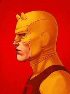Mike Mitchell x Marvel x Mondo - Daredevil (Yellow)