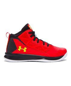 Amazon.com | Under Armour Boys' Pre-School UA Jet Mid Basketball Shoes | Basketball