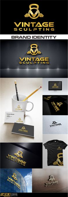 bodybuilding clothing brand logo by K │ GOLD™