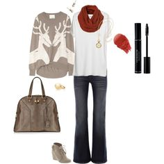 whimsical & casual holiday outfit.