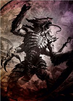 Tyranid Warrior This would be really cool to draw