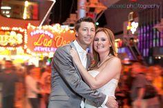 Las Vegas Strip Wedding Photo Tour, Las Vegas Sign, Exceed Photography, Fremont Street Photos