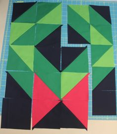 Christmas Wreath Quilt — Crafty Staci Christmas Present Quilt, Quilt Patterns, Sewing Patterns, Prairie Points, Christmas Placemats, Table Runner Pattern, Half Square Triangles, Quilted Table Runners, Holiday Crafts