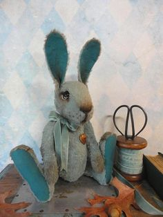 SOLD  Handmade Collectible Artist Rabbit