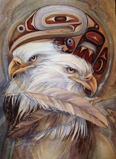 Bergsma Gallery Press :: Paintings :: New Images 2016 :: 'Eagle Totem' - Prints Native American Animals, Native American Paintings, Native American Pictures, Tattoo Indien, Cherokees, Eagle Artwork, Eagle Totem, Native American Spirituality, Eagle Drawing