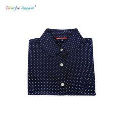 Colorful Apparel Floral Women Blouses Polka Dot Blouse Long Sleeve Shirt Women Cotton Ladies Tops Fashion CA166A
