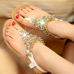 Sandals with some bling!!!