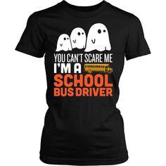School Bus Driver - Halloween Ghost