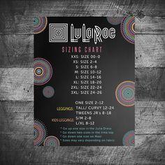 LuLaRoe sizing chart Poster Custom LuLaRoe by MichelleRayeDesigns