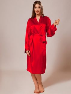 85b8c0b5a6 Inject instant luxury into your lounge look with this essential silk robe.  Silk Sleepwear,