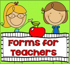 """There is never enough time in a busy teachers day to get everything done that we'd like to do. One thing I found that helped is to make multiple copies of forms that I frequently use. I compiled a packets of forms that I have found handy to have for those """"oh no"""", """"oops"""", """"oh my"""", and """"I should have had a V-8"""" moments. ($)"""