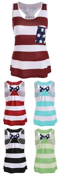 Stars and stripes racerback tank shoes, beautiful clothes, outfit, blouses. Pretty Outfits, Beautiful Outfits, Cute Outfits, Beautiful Clothes, Dinner Outfits, Summer Outfits, Casual T Shirts, Cool T Shirts, Sandro