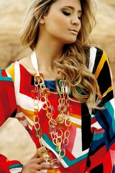 Oasis18 Collar Glam multicolor maxicollar Alejandra Valdivieso