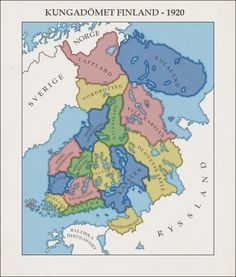 Finland - 1920 by fennomanic on DeviantArt Imaginary Maps, Pictorial Maps, Seven Years' War, Peter The Great, Lappland, Fantasy Map, Alternate History, Old World Maps, Sea Monsters