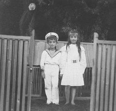 Tsarevich Alexei Nikolaevich Romanov of Russia and his favourite sister,Grand Duchess Anastasia Nikolaevna Romanova of Russia.A♥W