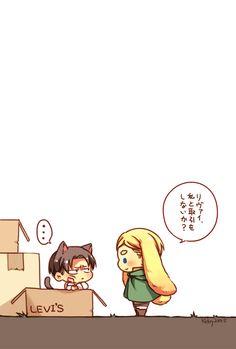 Neko Levi and bunny Erwin // AoT