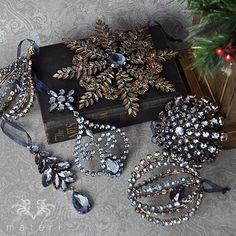ブルージュエルドロップオーナメント|クリスマス雑貨の通販【マテリ】 |