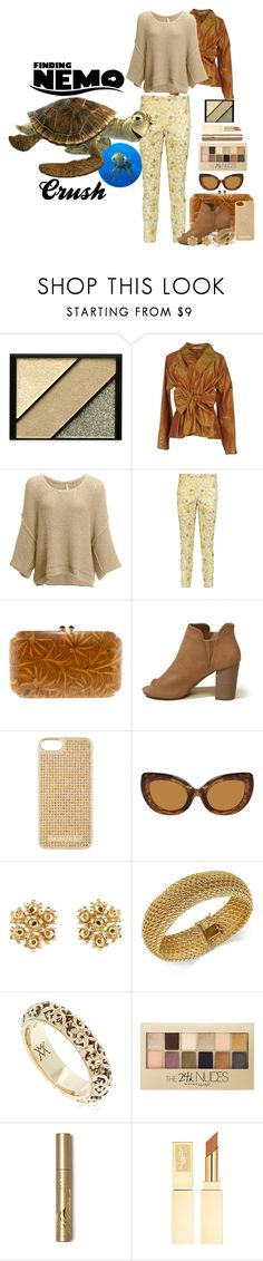 """""""Crush"""" by allyssister ❤ liked on Polyvore featuring B. Ella, Elizabeth Arden, Etro, Free People, Rochas, Silvia Furmanovich, Hollister Co., MICHAEL Michael Kors, Vanzi and Maybelline"""