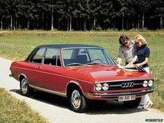 1972 Audi GL. By now, that vinyl top has made it a convertible, but ... still super cool.