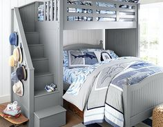 I love the Pottery Barn Kids Aqua Madras Bedroom on potterybarnkids.com