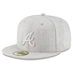 Atlanta Braves New Era Twisted Frame 59FIFTY Fitted Hat - Gray 46a8b9463db