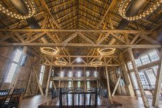 The Expansive dining area is bright and open and features exposed woodwork throughout. The Wyndridge Farm restaurant/event venue in Dallastown was converted from and built upon the farm's original  barn, it is home to a craft brewery and employs 60 people between the restaurant, event venue, brewery and cider operations June, 1 2015.  Daniel Zampogna, PennLive