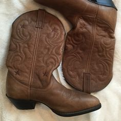 Laredo Cowgirl Boots size 7.5 Like New Adorable Cowboy Boots by Laredo size 7.5. These boots are so comfortable, soft leather and go with everything! Shoes Heeled Boots