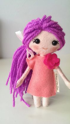 Fleur Pink Felt Doll in Gift Box. Beautiful by WhisperOfThePipit, £20 cute kawaii doll