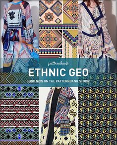 "281 Likes, 3 Comments - Patternbank (@patternbank) on Instagram: ""Ethnic Geo AW1718 – Hand Curated Seasonal Trend Theme on the Patternbank Studio – A hugely popular…"""