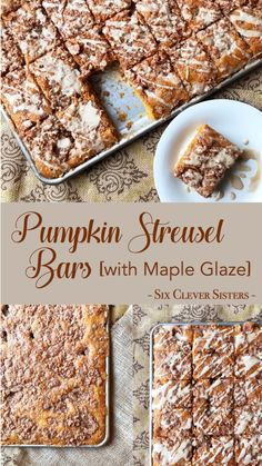 Moist pumpkin bars with a streusel topping and drizzle of maple glaze. Such a de… Moist pumpkin bars with a streusel topping and drizzle of maple glaze. Such a delicious, easy recipe for a dessert that will feed a crowd! Cake Recipes At Home, Fall Dessert Recipes, Desserts For A Crowd, Köstliche Desserts, Fall Recipes, Delicious Desserts, Breakfast Recipes, Pumpkin Sheet Cake, Pumpkin Bars