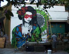 Street Art by Fin DAC in Madrid, Spain. Photo by Miss Kaliansky